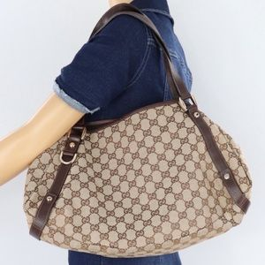 💎✨Authentic✨💎GUCCI Jacquard Leather Tote B…